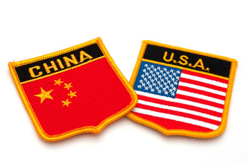 china and usa flags