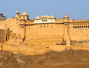 The famous Amber Fort of Jaipur, India