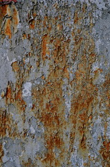 Grungy Peeling Paint And Rust Background Texture