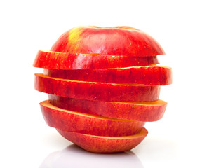Red Sliced Apple