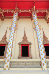 Window of temple in Thailand