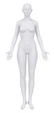 Female body in anatomical position anterior view clipping path