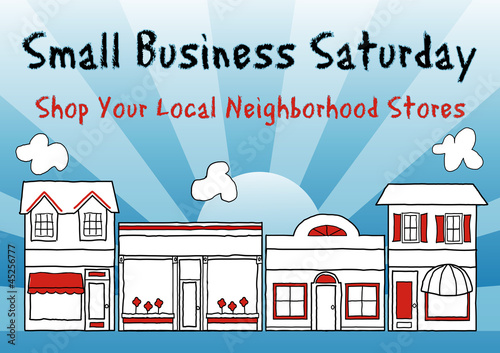 Small Business Saturday, shopping at small, local businesses - 45256777