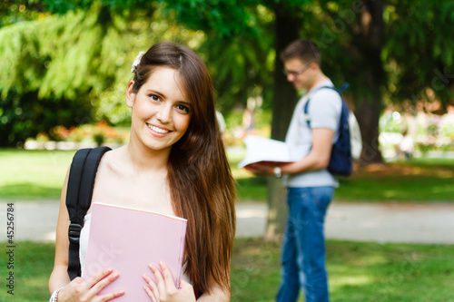 Gorgeous smiling student portrait
