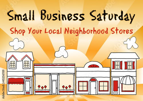 Small Business Saturday, shopping at small, local businesses - 45256789