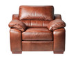 Nice and luxury leather armchair isolates