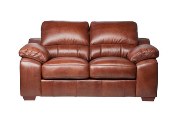 Soft and luxuries brown leather sofa