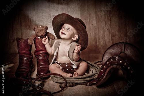 Fototapeten,kind,judo,baby,cowboy