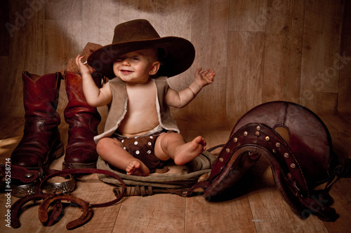 bébé cow-boy