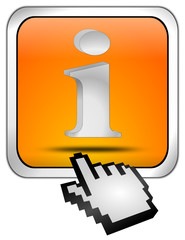 Button mit Information Symbol mit Cursor