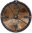Metallic and Wooden Grunge Clock