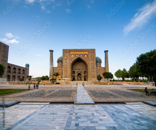 Registan square at Samarkand, Uzbekistan