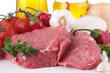 raw meat and ingredient