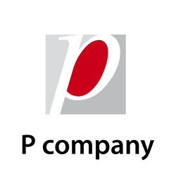 Vector Logo initial letter P