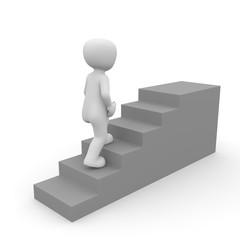 3D Treppe zum Sieg