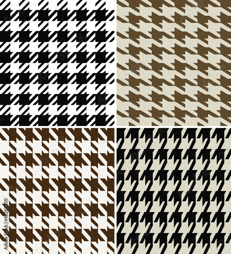 Wool Houndstooth Fabric