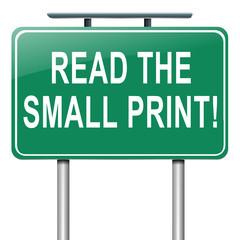 Small print concept.