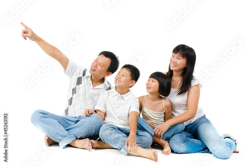 Southeast Asian family
