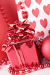 red gift box and decoration