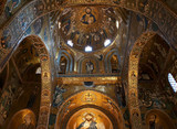 The apses in the Palatine Chapel of Palermo in Sicily