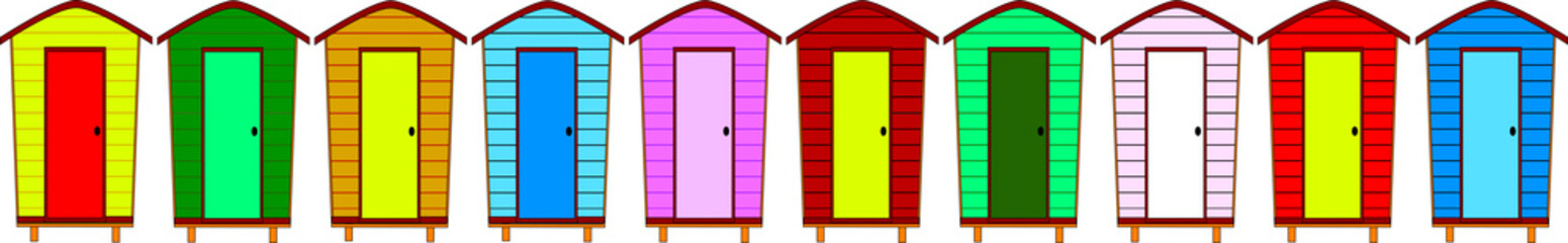 10 Beach Huts