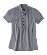 Striped gray woman blouse for relaxing day isolates