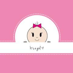 Baby Karte Mädchen rosa