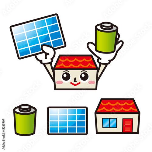 太陽光発電と蓄電池を持つ家