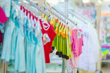 Clothes for young babies in kids mall