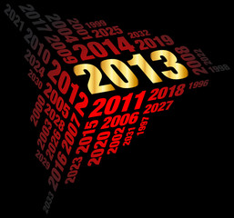 New Year 2013 Gold/Red/Black