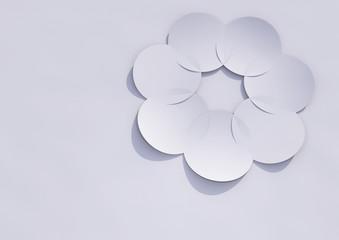 Papierhintergund mit Blume 02