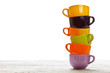 Tower of color cups