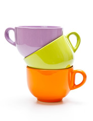 Three color cups