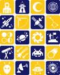 Постер, плакат: Astronomy and space icons