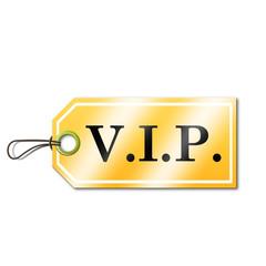 Etiqueta con texto VIP