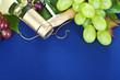 White wine and fresh grape
