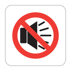 Prohibition Sign No Loud Music Noise