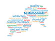 TESTIMONIALS Tag Cloud (customer satisfaction experience button)