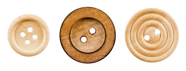 木製のボタン