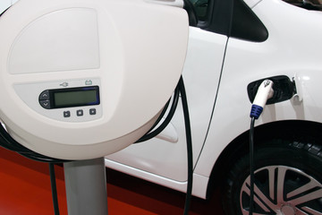 electric car with charger