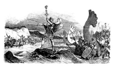 Antiquity - Roman legions : landing in England