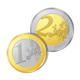 Fototapete Münze - Piece - Geld / Kreditkarte