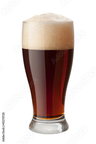 Dark Ale Isolated with clipping path