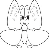 Cute cartoon butterfly.Vector