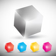 vector colorful shiny cubic background