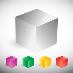 vector colorful cube set