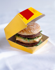 Hamburger in a box