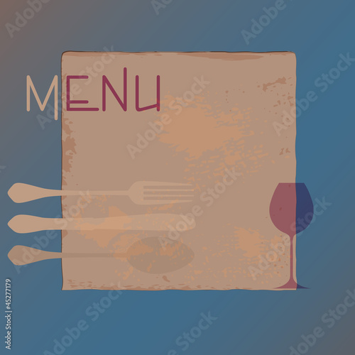 menu card design template for restaurant, free copy space