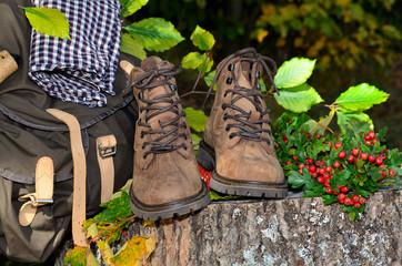Wanderschuhe Herbst Pause Wandern