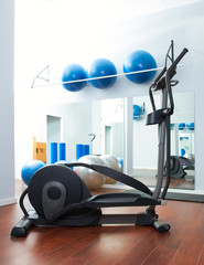 Aerobics cardio training elliptic crosstrainer at gym